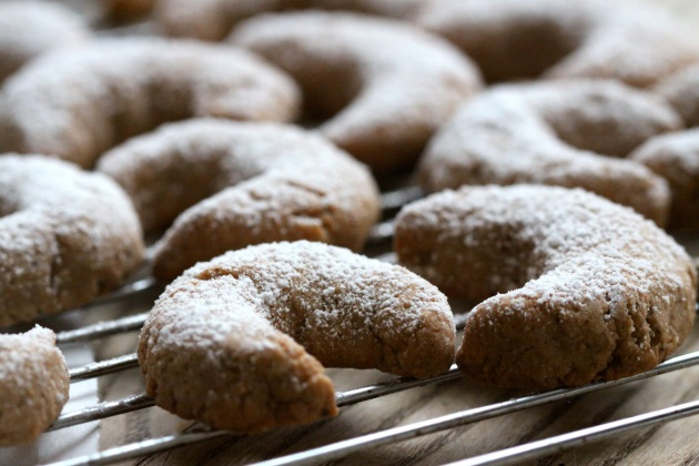 Cinnamon Hazelnut Crescents