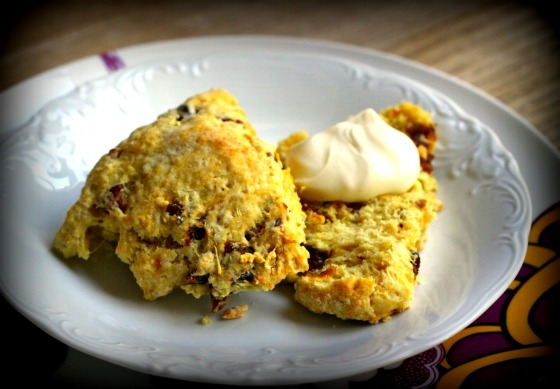 Orange Scones with Dates