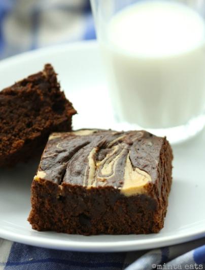 Brownies z masłem orzechowym