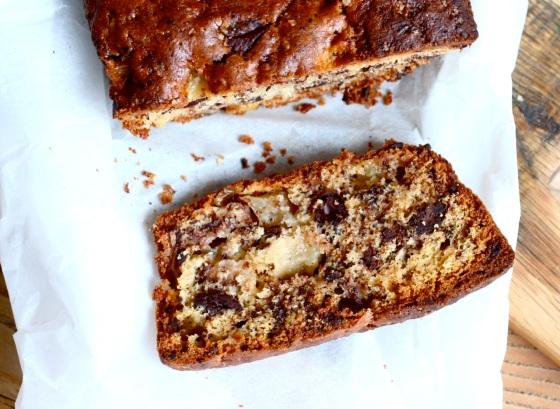 Ciasto z gruszkami i czekoladą