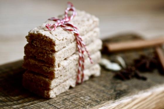 Chai shortbread - maślane ciastka korzenne