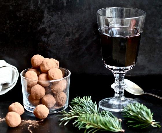 Trufle czekoladowe z winem