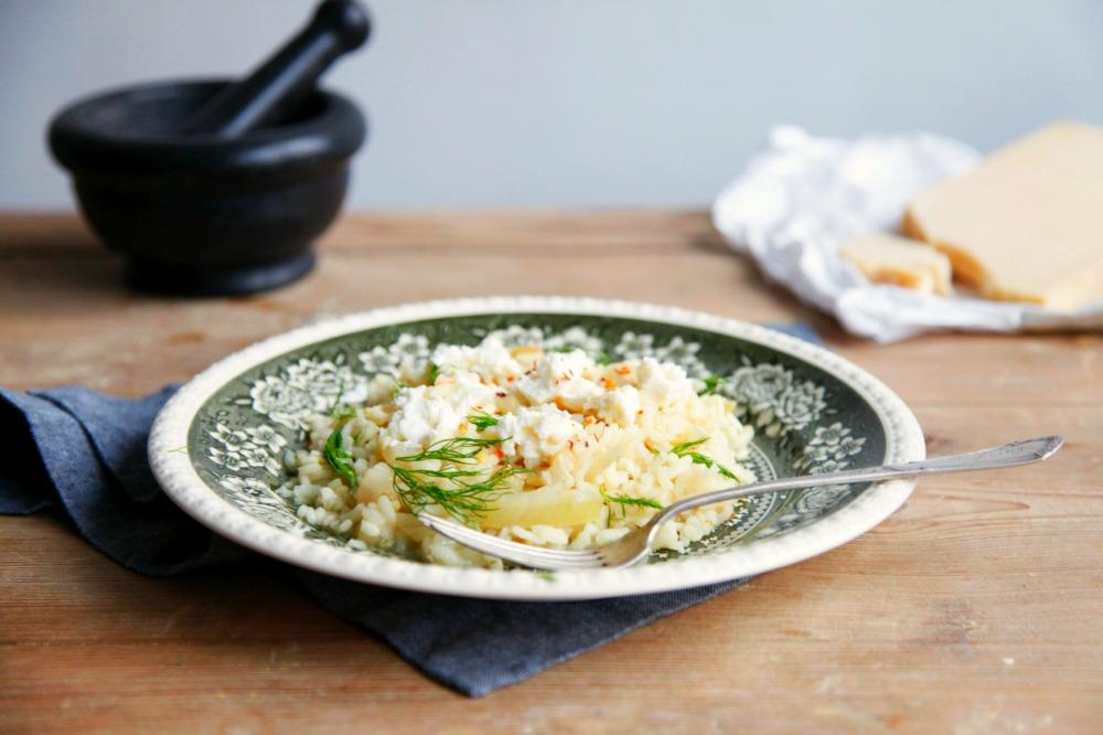 Risotto z fenkułem, ricottą i chilli