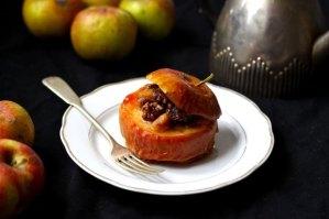 Jabłka pieczone z bakaliami