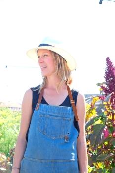 Mette Helbæk, która wraz z partnerem prowadzi restaurację Stedsans w ogrodzie na dachu