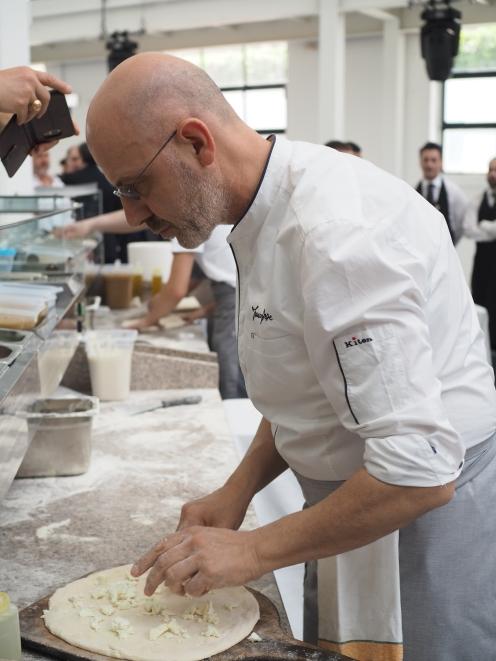 Atrakcją finałów był lunch przygotowany przez najwiekszego rebelianta w świecie pizzaiolo - Franco Pepe